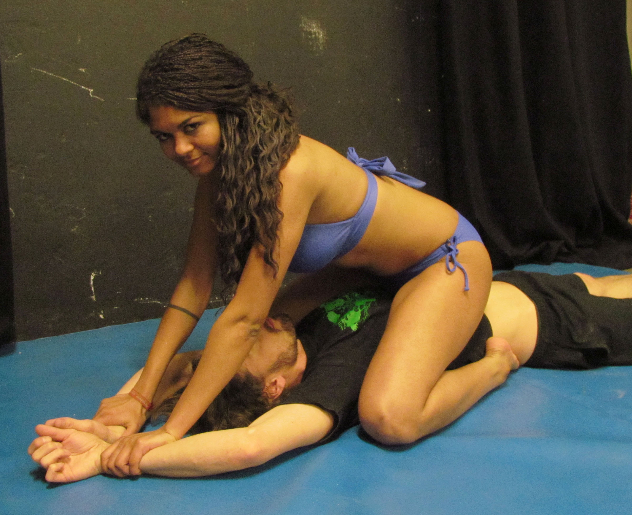 First mixed wrestling session